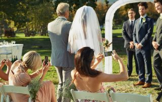 Proper wedding etiquette for cell phones and cameras
