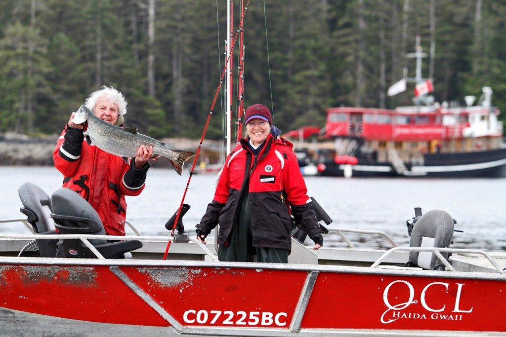 Fishing activities at queen charlotte lodge british columbia