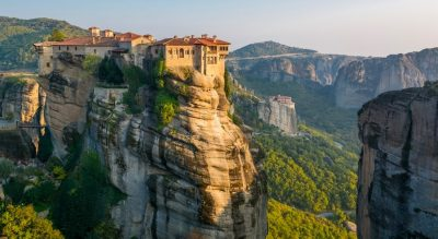 Monastery on edge of cliff