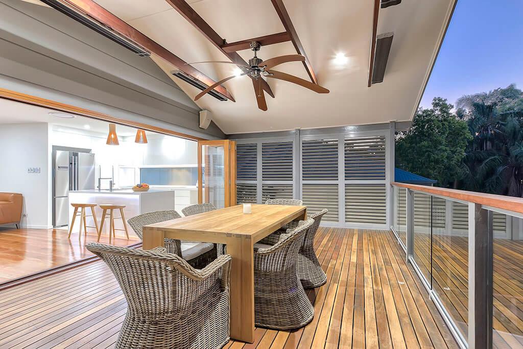 Weatherwell outdoor deck living area