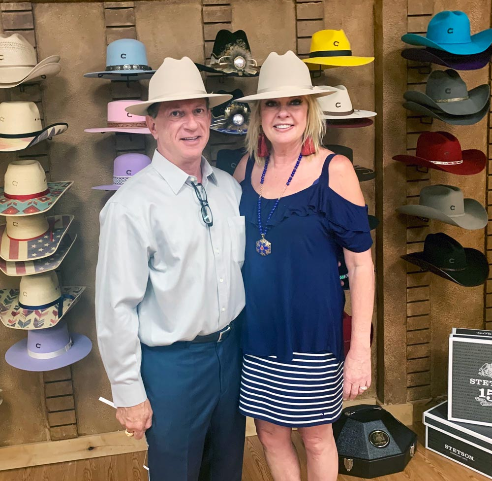 beverly and steve smirnis wearing stetsons